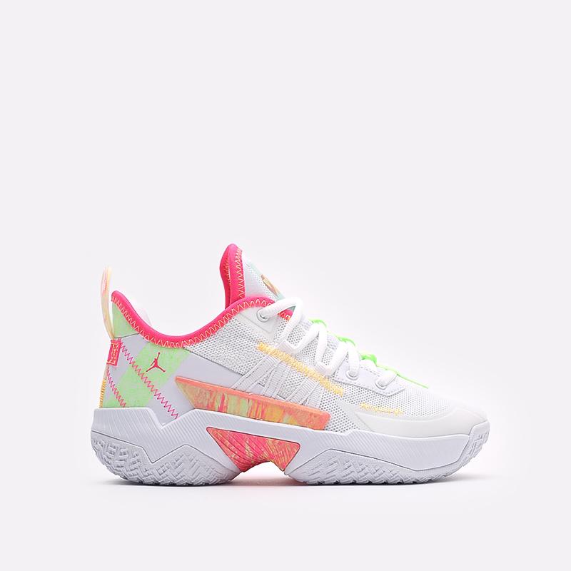 женские белые баскетбольные кроссовки Jordan One Take II (GS) CZ0840-163 - цена, описание, фото 1