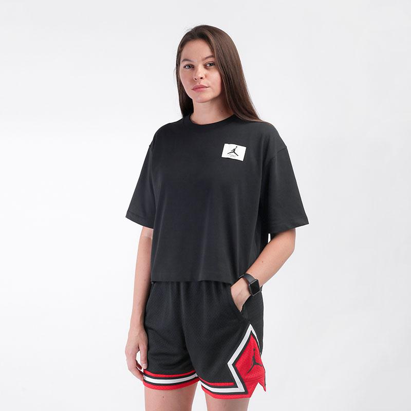 женскую черную  футболка jordan essentials boxy t-shirt DD7054-010 - цена, описание, фото 1