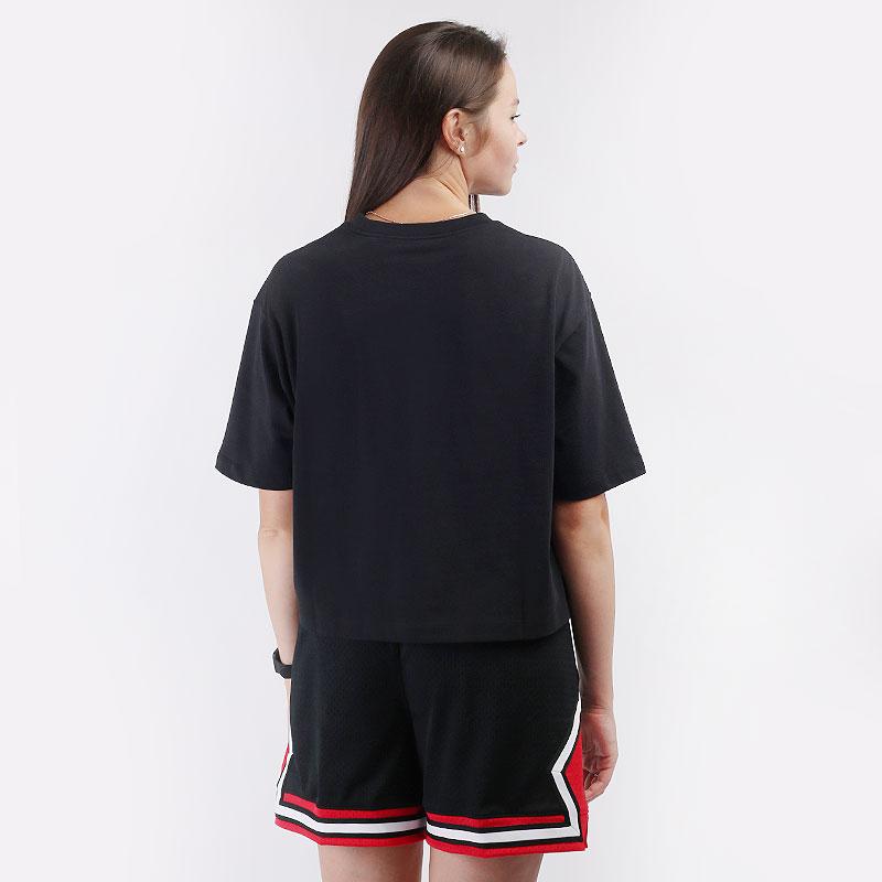 женскую черную  футболка jordan essentials boxy t-shirt DD7054-010 - цена, описание, фото 4