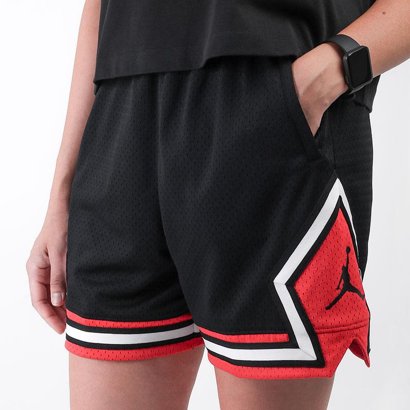 женские черные  шорты jordan essential diamond short DD0287-010 - цена, описание, фото 1
