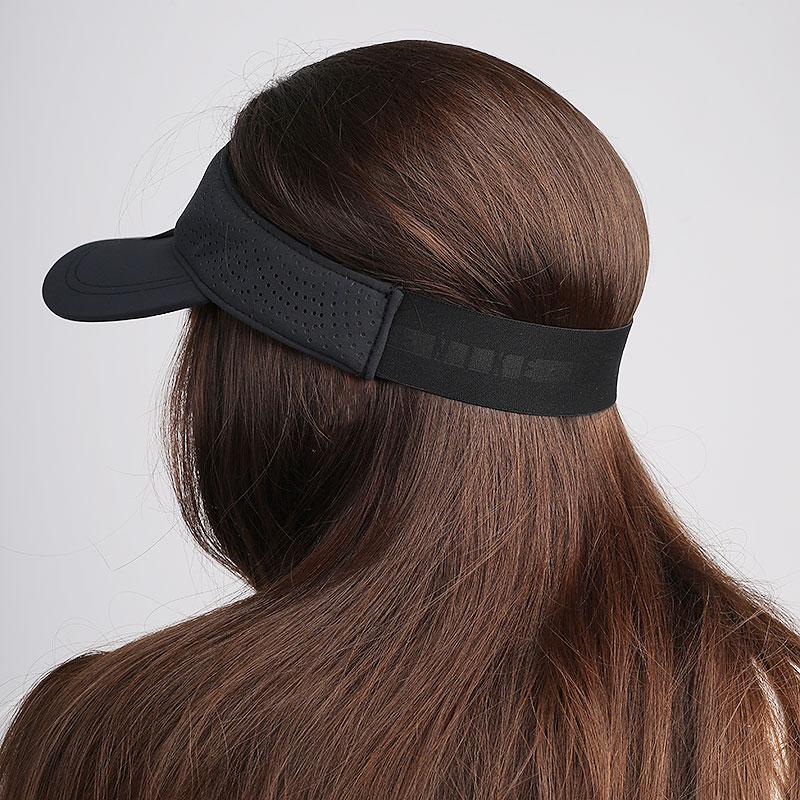 женский черный  козырек nike women's aerobill golf visor BV1080-010 - цена, описание, фото 2