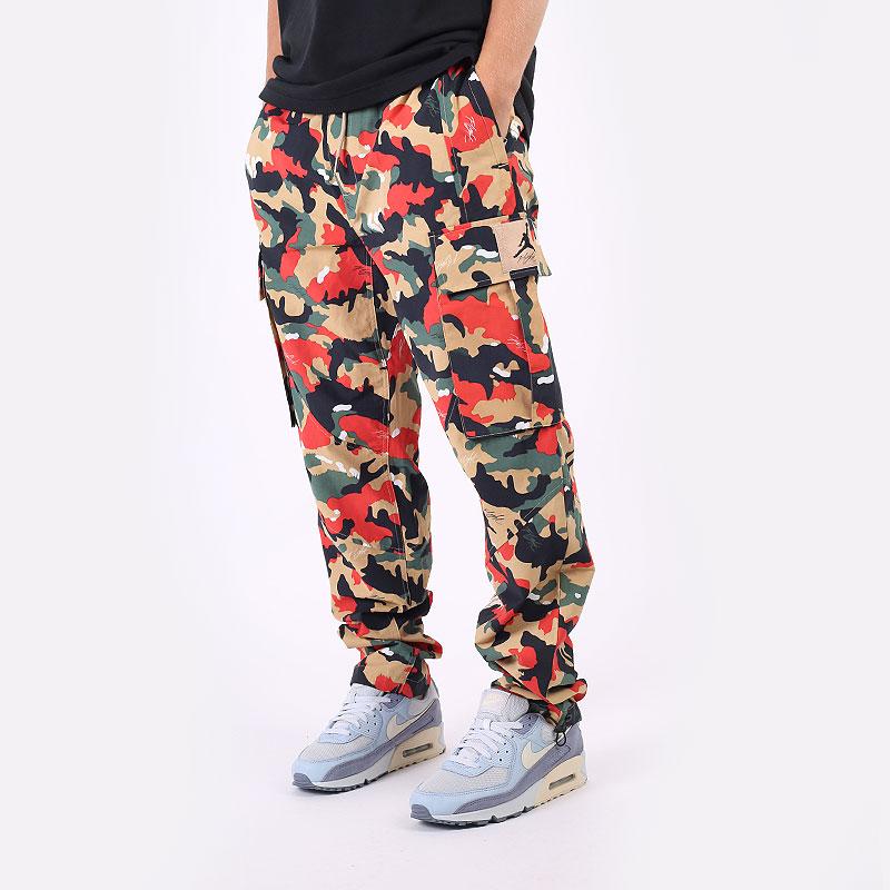 мужские разноцветные  брюки jordan flight heritage cargo trousers DC7450-246 - цена, описание, фото 1