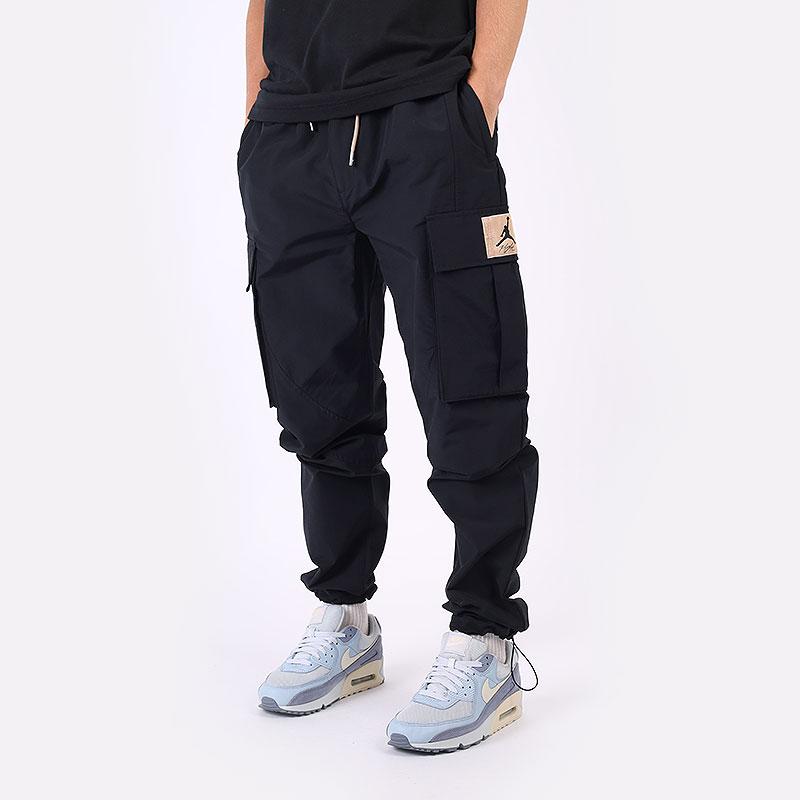 мужские черные  брюки jordan flight heritage cargo trousers DC7450-010 - цена, описание, фото 1