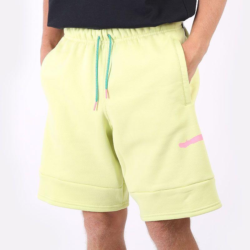мужские салатовые шорты  Jordan Jumpman Air Fleece Shorts CK6707-352 - цена, описание, фото 1