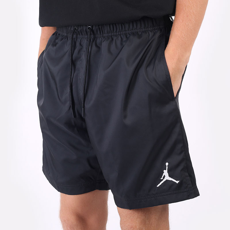 мужские черные  шорты  jordan poolside short CZ4751-010 - цена, описание, фото 1