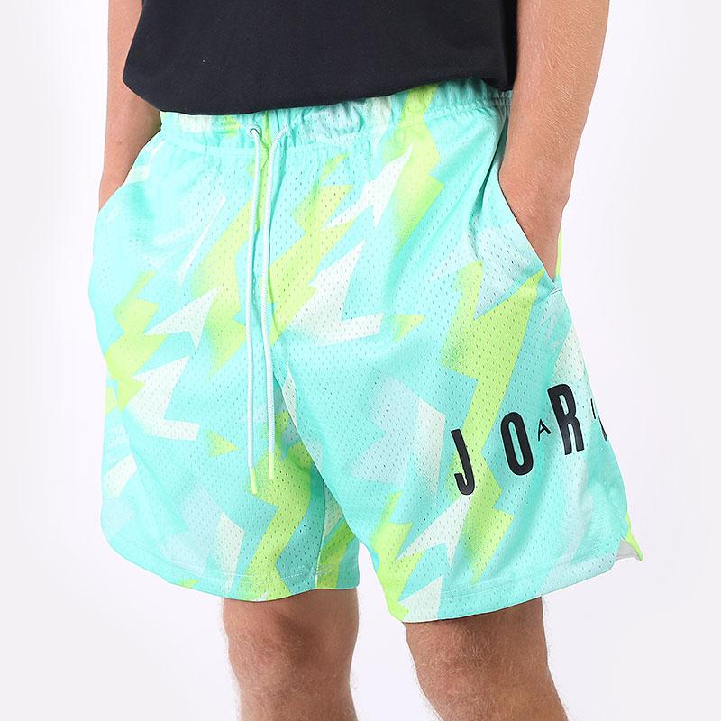 мужские голубые  шорты  jordan jumpman air printed mesh shorts CZ4757-675 - цена, описание, фото 1