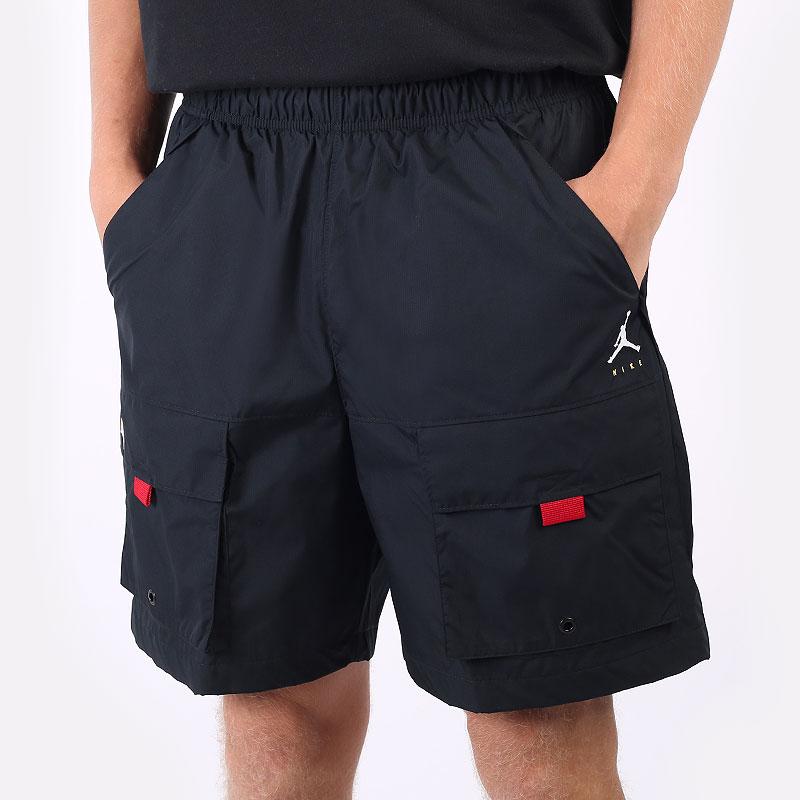 мужские черные шорты  Jordan Jumpman Woven Shorts DA7239-010 - цена, описание, фото 1