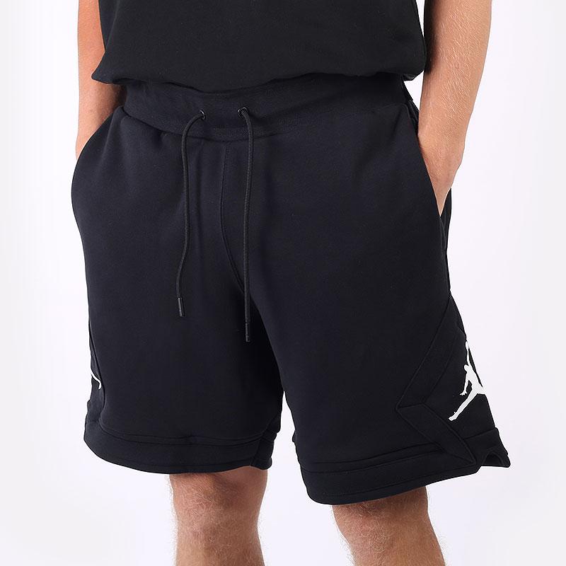 мужские черные  шорты  jordan essential fleece diamond shorts DA9824-010 - цена, описание, фото 1