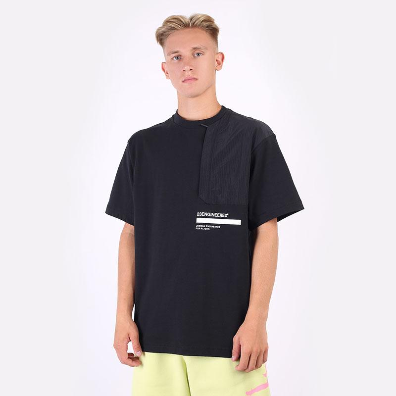 мужскую черную  футболка jordan 23 engineered short-sleeve top DM3215-010 - цена, описание, фото 1