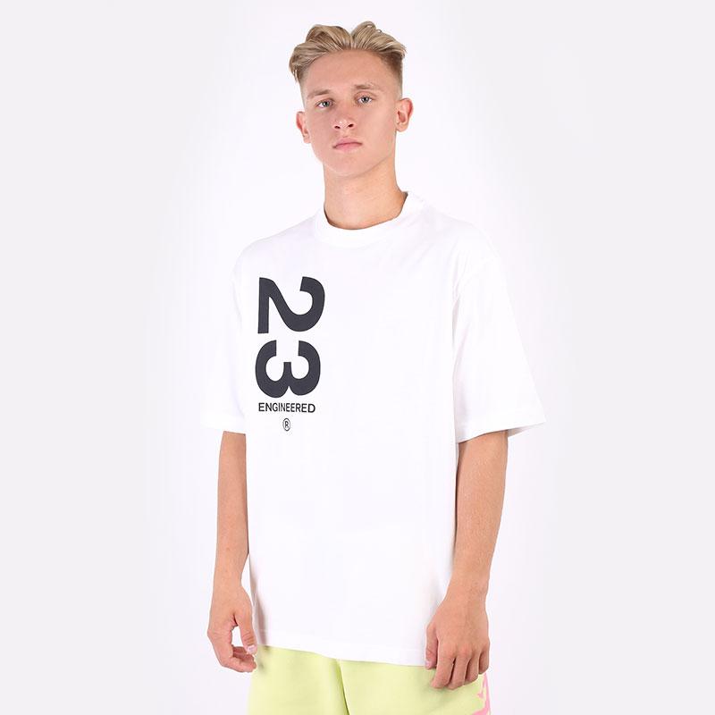 мужскую белую  футболка jordan 23 engineered short-sleeve crew CZ4908-100 - цена, описание, фото 1