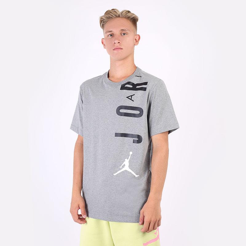 мужская серая футболка Jordan Air Stretch Tee CZ8402-091 - цена, описание, фото 1