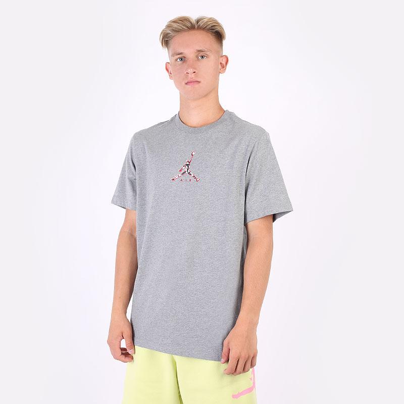 мужскую серую  футболка jordan 23 swoosh short sleeve crew CZ8378-091 - цена, описание, фото 1