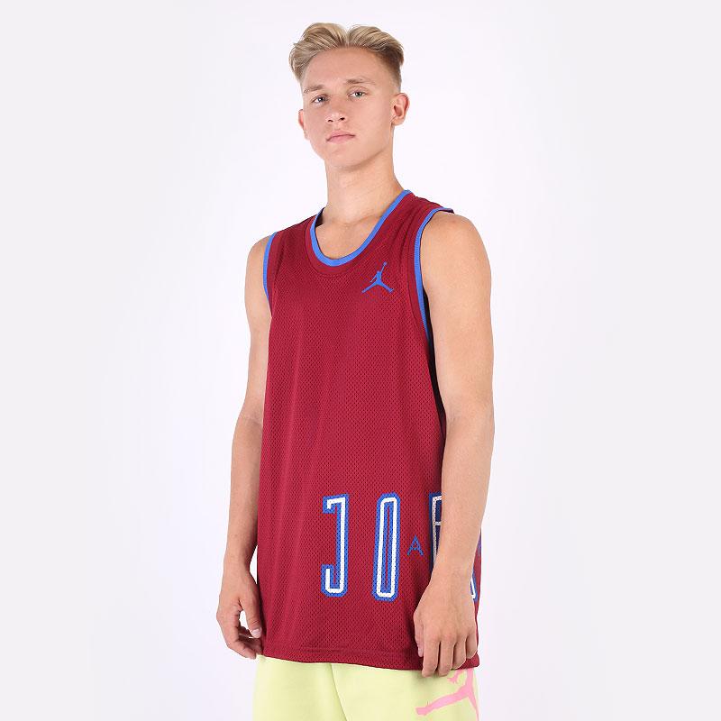 мужскую бордовую, синюю  майку jordan sport dna jersey DA7234-677 - цена, описание, фото 1