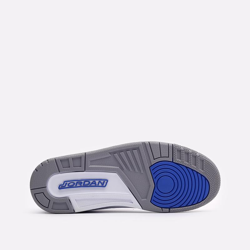 мужские белые, синие  кроссовки jordan 3 retro CT8532-145 - цена, описание, фото 5
