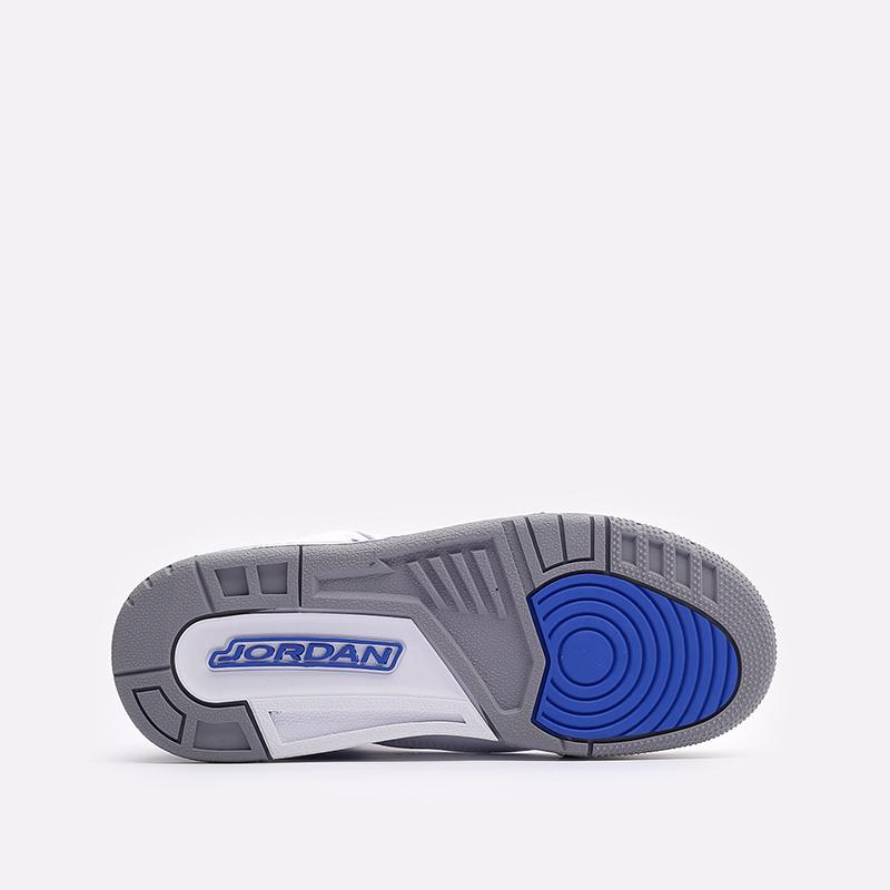 женские белые, синие  кроссовки jordan 3 retro (gs) 398614-145 - цена, описание, фото 5