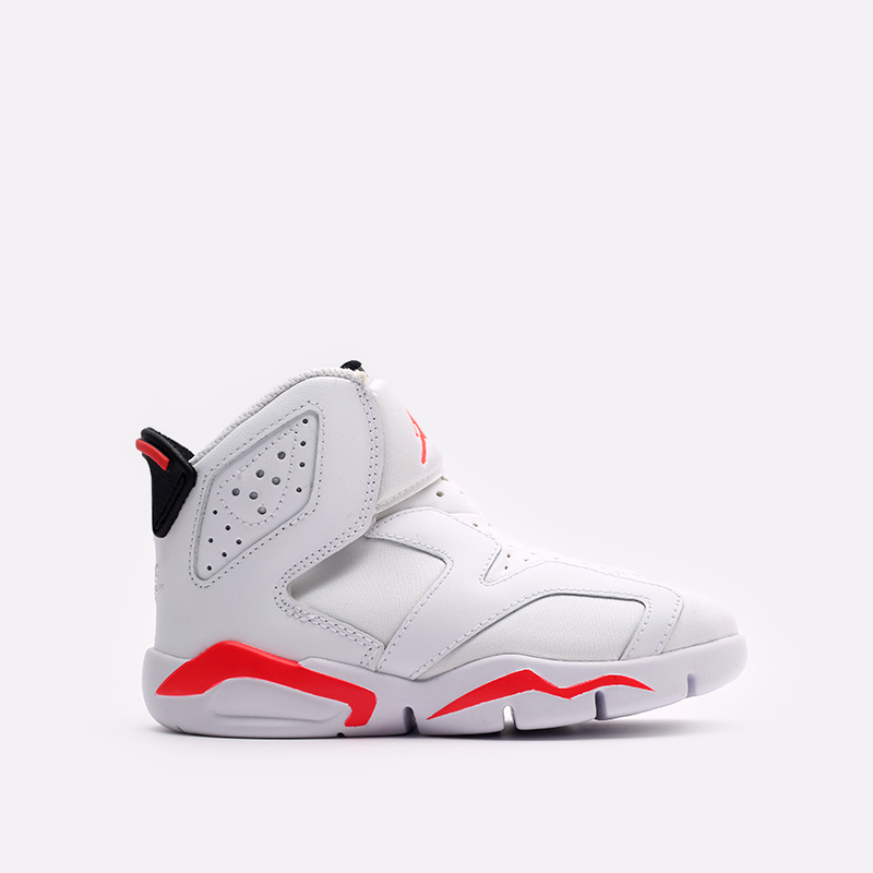 детские белые  кроссовки jordan 6 retro little flex ps CT4416-101 - цена, описание, фото 1