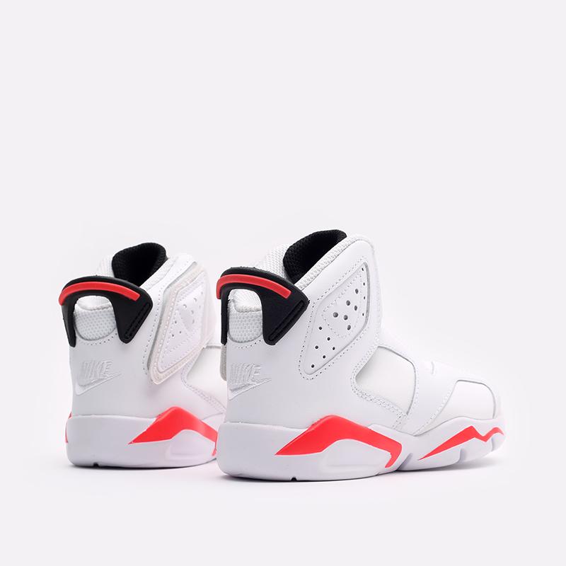 детские белые  кроссовки jordan 6 retro little flex ps CT4416-101 - цена, описание, фото 3