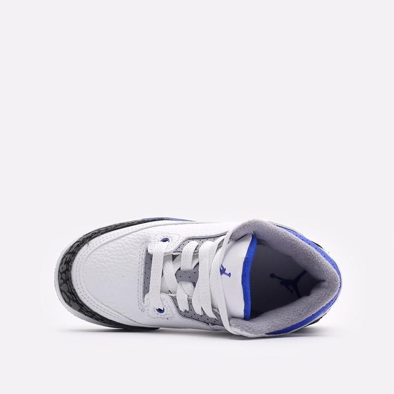 детские белые кроссовки Jordan 3 Retro (PS) 429487-145 - цена, описание, фото 4