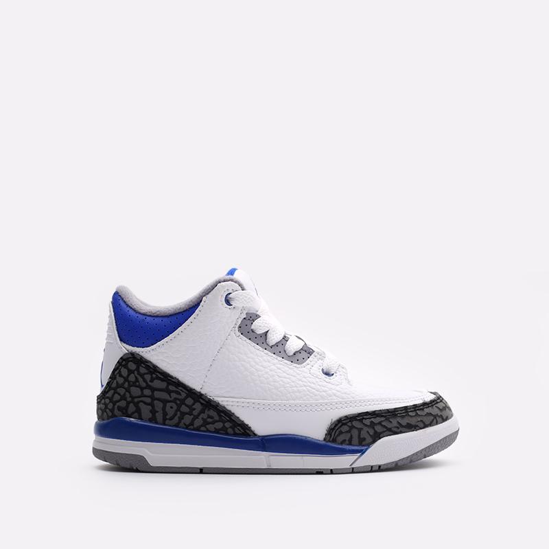 детские белые кроссовки Jordan 3 Retro (PS) 429487-145 - цена, описание, фото 1