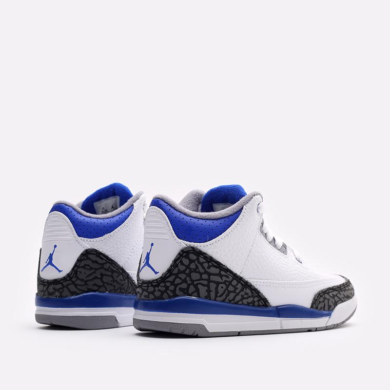 детские белые кроссовки Jordan 3 Retro (PS) 429487-145 - цена, описание, фото 5