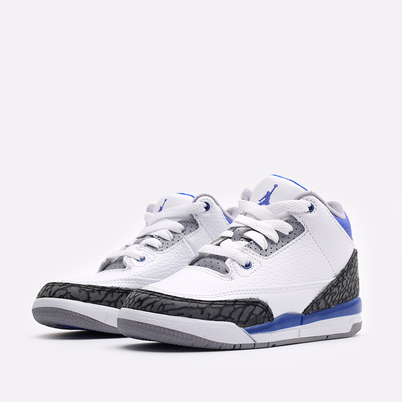 детские белые кроссовки Jordan 3 Retro (PS) 429487-145 - цена, описание, фото 2