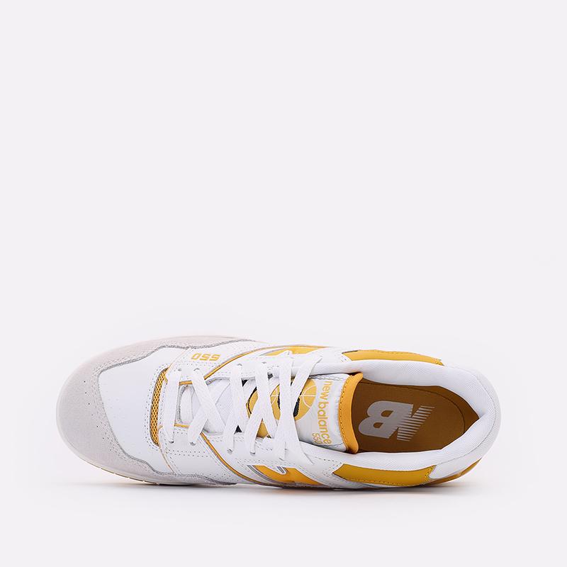 мужские белые, жёлтые  кроссовки new balance 550 C-BB550LA1/D - цена, описание, фото 6
