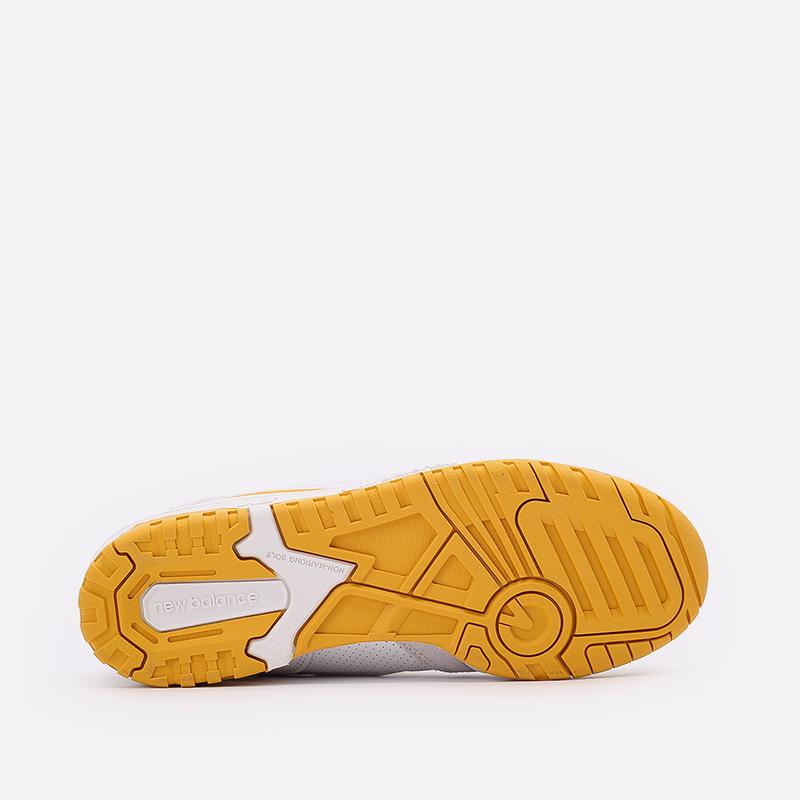 мужские белые, жёлтые  кроссовки new balance 550 C-BB550LA1/D - цена, описание, фото 5