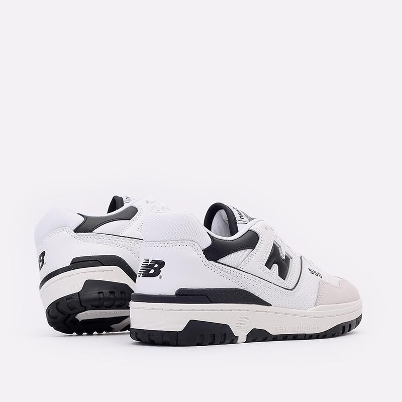 мужские белые, чёрные  кроссовки new balance 550 C-BB550LM1/D - цена, описание, фото 3