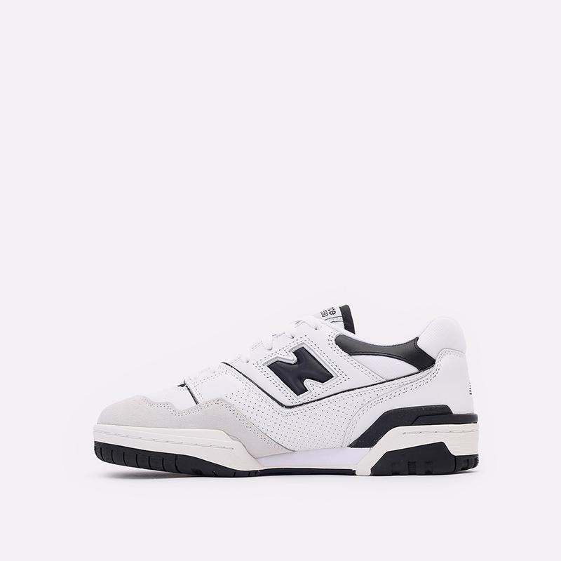 мужские белые, чёрные  кроссовки new balance 550 C-BB550LM1/D - цена, описание, фото 2