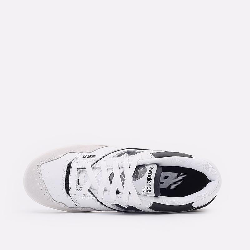 мужские белые, чёрные  кроссовки new balance 550 C-BB550LM1/D - цена, описание, фото 6