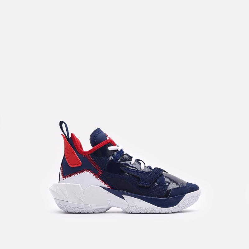 женские синие баскетбольные кроссовки Jordan Why Not Zero.4 (GS) DD9659-400 - цена, описание, фото 1