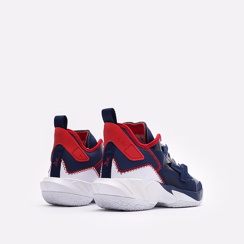 женские синие баскетбольные кроссовки Jordan Why Not Zero.4 (GS) DD9659-400 - цена, описание, фото 3
