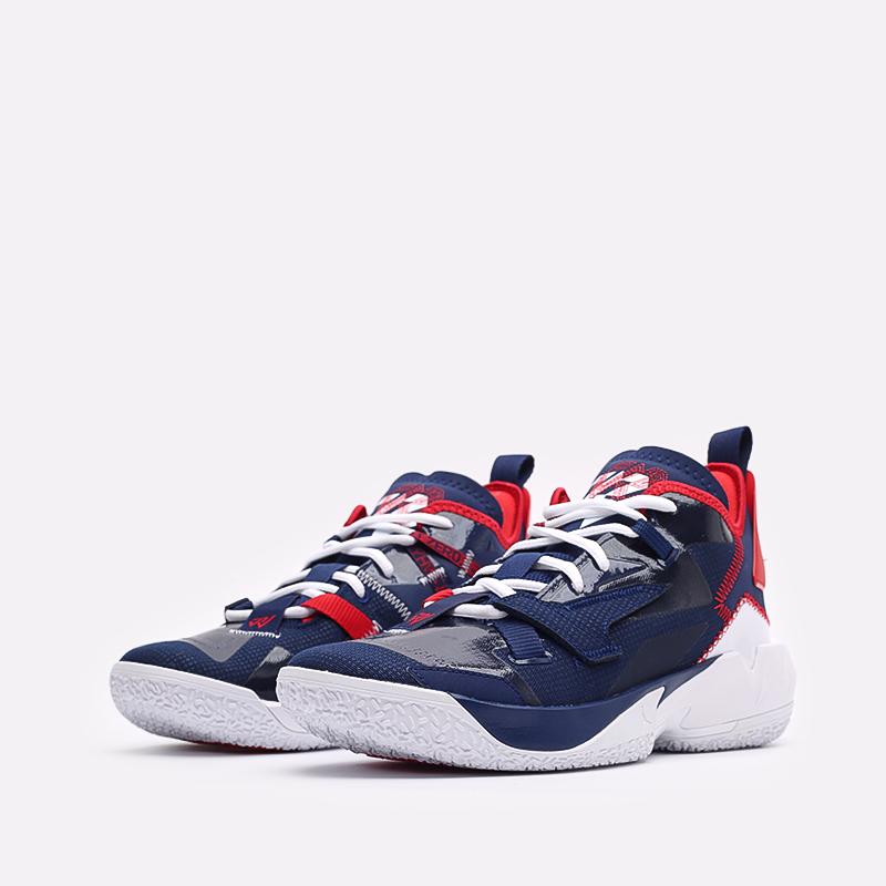 мужские синие  кроссовки jordan why not zero.4 DD4887-400 - цена, описание, фото 4