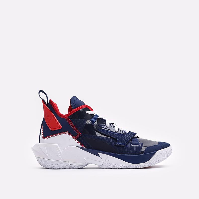 мужские синие  кроссовки jordan why not zero.4 DD4887-400 - цена, описание, фото 1