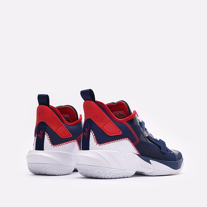 мужские синие  кроссовки jordan why not zero.4 DD4887-400 - цена, описание, фото 3
