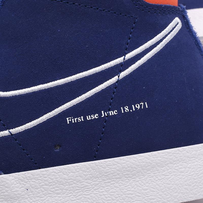 мужские синие  кроссовки nike blazer mid '77 DC3433-400 - цена, описание, фото 8