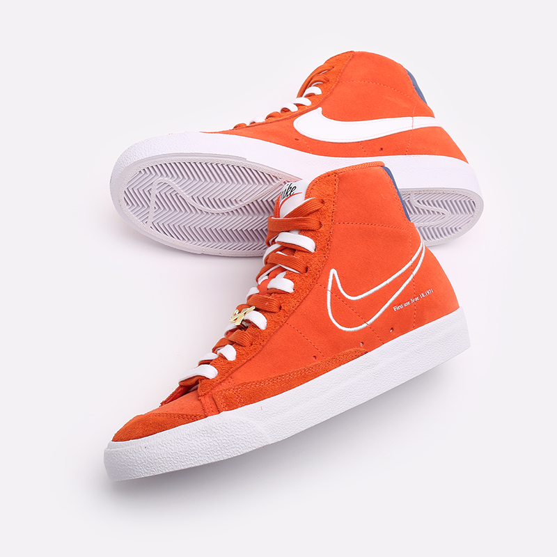 мужские оранжевые  кроссовки nike blazer mid '77 DC3433-800 - цена, описание, фото 6