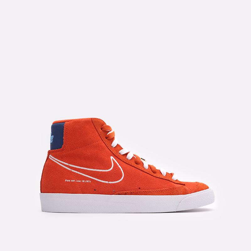 мужские оранжевые  кроссовки nike blazer mid '77 DC3433-800 - цена, описание, фото 1