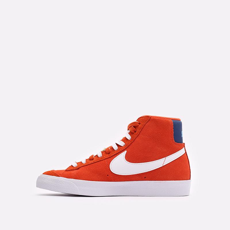 мужские оранжевые  кроссовки nike blazer mid '77 DC3433-800 - цена, описание, фото 2