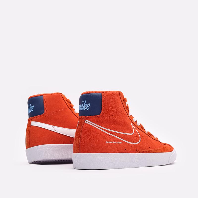 мужские оранжевые  кроссовки nike blazer mid '77 DC3433-800 - цена, описание, фото 3