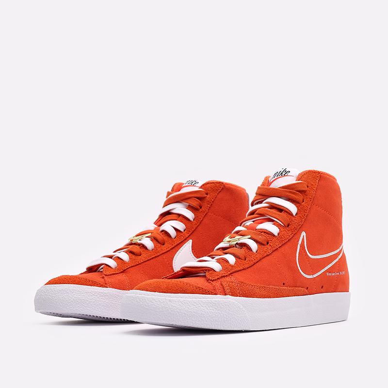 мужские оранжевые  кроссовки nike blazer mid '77 DC3433-800 - цена, описание, фото 4