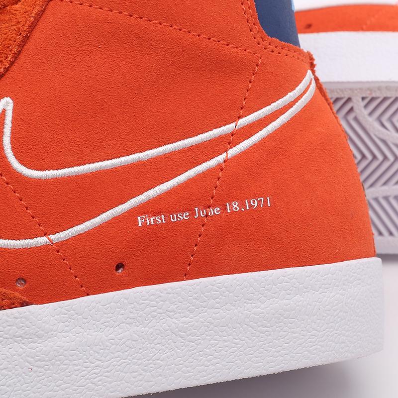 мужские оранжевые  кроссовки nike blazer mid '77 DC3433-800 - цена, описание, фото 8