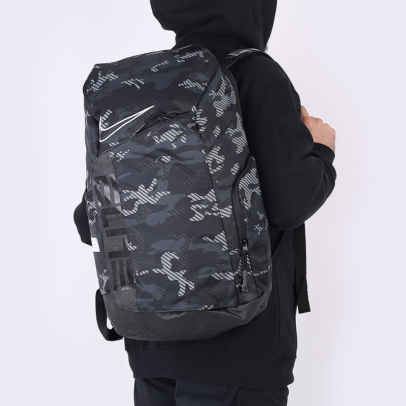 черный  рюкзак nike elite pro printed basketball backpack 32l DA7278-010 - цена, описание, фото 1