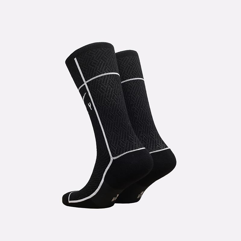 мужские чёрные  носки nike sneakr sox crew CU5855-010 - цена, описание, фото 2