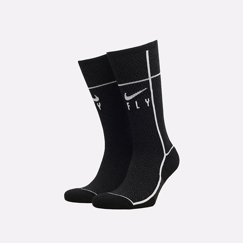 мужские чёрные  носки nike sneakr sox crew CU5855-010 - цена, описание, фото 1