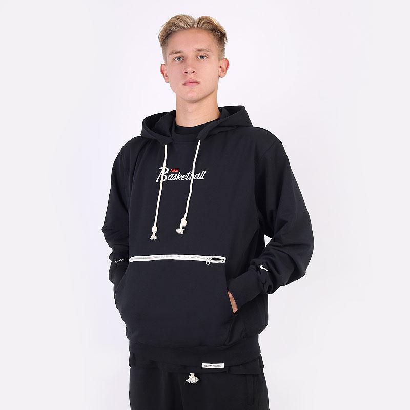 мужскую черную  толстовка nike dri-fit standard issue hoodie DA5942-010 - цена, описание, фото 1