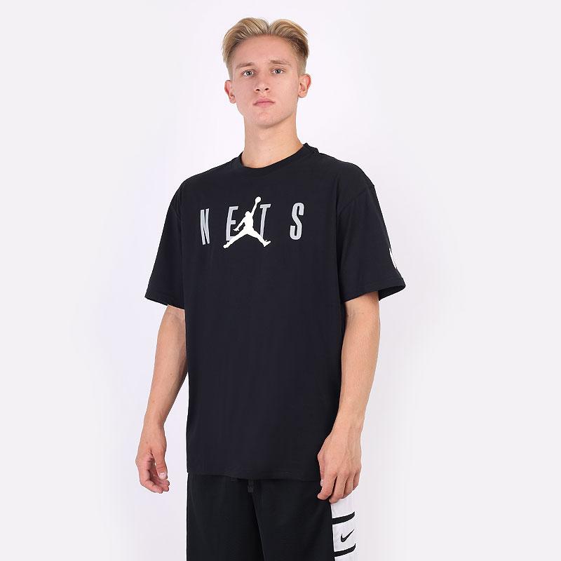 мужская черная футболка Jordan Brooklyn Nets Courtside Statement Tee DA6502-010 - цена, описание, фото 1