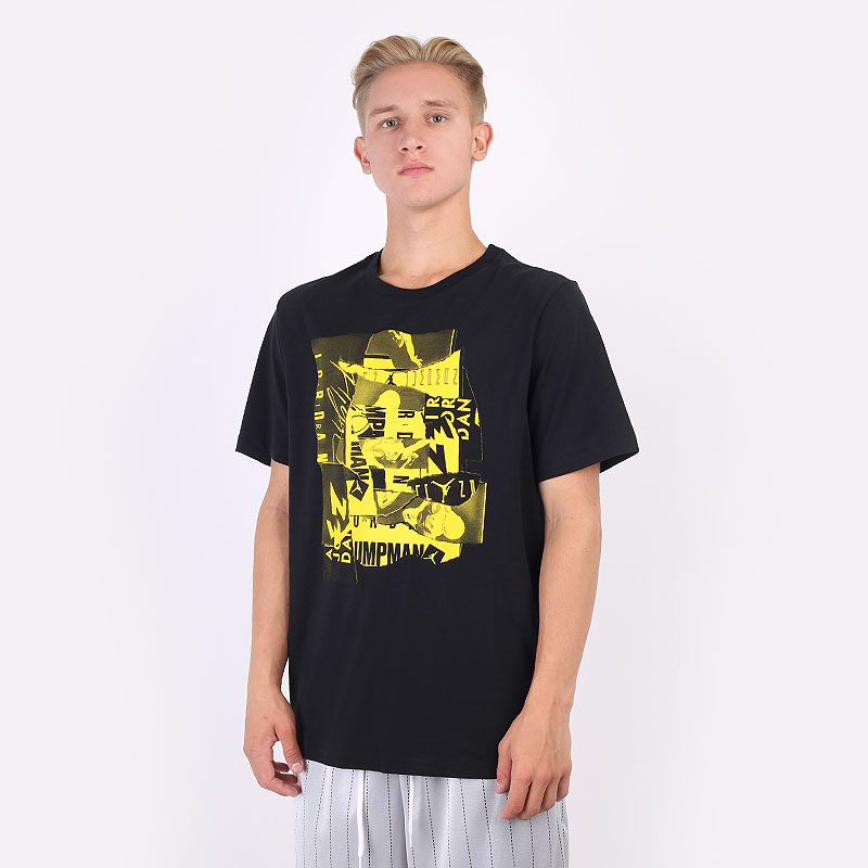 мужскую черную  футболка jordan jumpman flight short-sleeve t-shirt DA9879-011 - цена, описание, фото 1