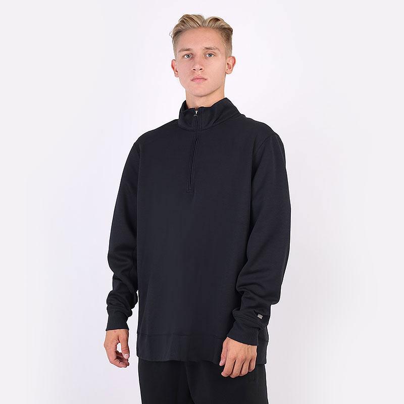 мужскую черную  толстовка nike dri-fit player 1/2-zip golf top CU9826-010 - цена, описание, фото 1