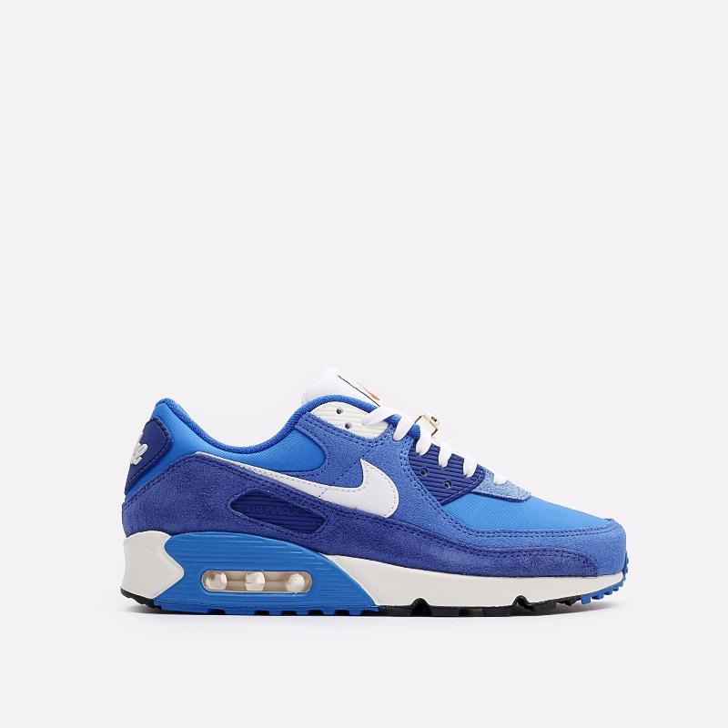 мужские синие  кроссовки nike air max 90 se DB0636-400 - цена, описание, фото 1